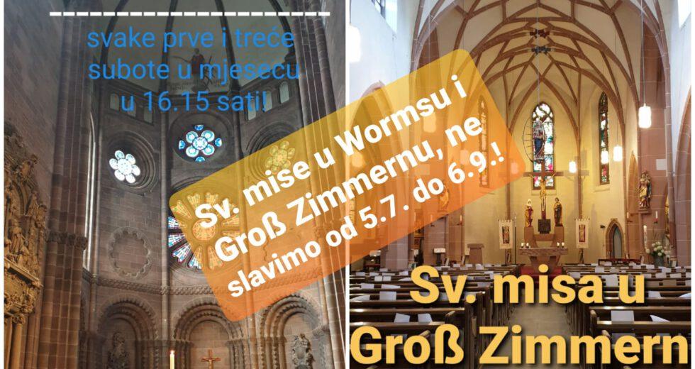 Svete mise u Wormsu  i Groß-Zimmernu
